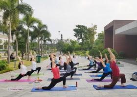 Lớp yoga ven sông cuối tuần